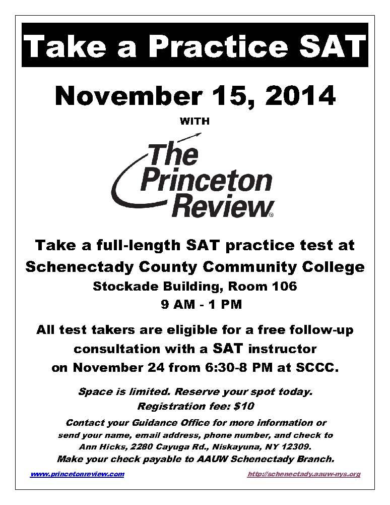 SAT flier-Take a Practice SAT - N0v 2014